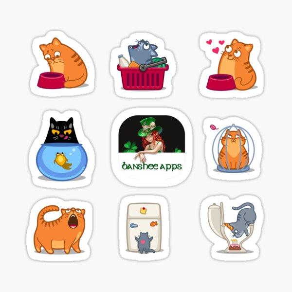 Funny Cat Sticker Pack 3 Sticker
