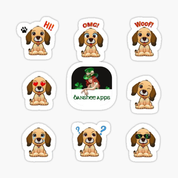 Funny Dog Sticker Pack Collection Part 4 Sticker
