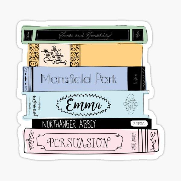 Jane Austen Book Stack - Colour  Sticker