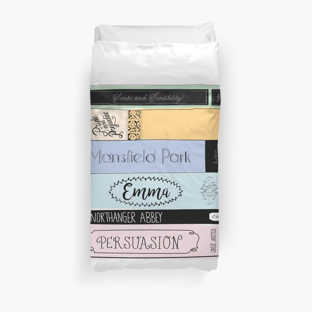 Jane Austen Book Stack - Farbe Bettbezug