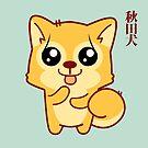 «Kawaii Hachikō, el perro legendario (verde)» de EuGeniaArt