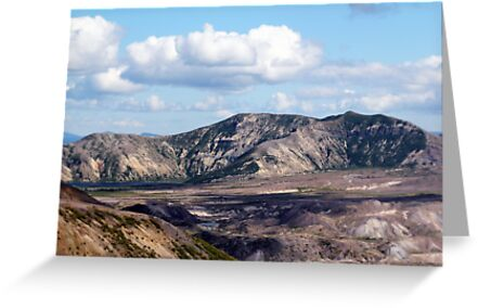 Lake and mountain view near Johnston's Ridge 2 by Dawna Morton