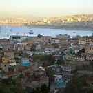 Valparaíso from the hills. by Francisco Larrea