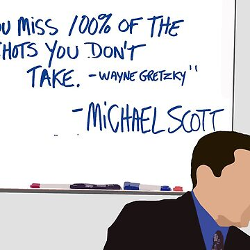 Wayne Gretzky - Michael Scott by pickledbeets