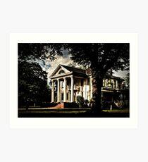 Faulkner's South - Old Greek Revival Mansion Art Print
