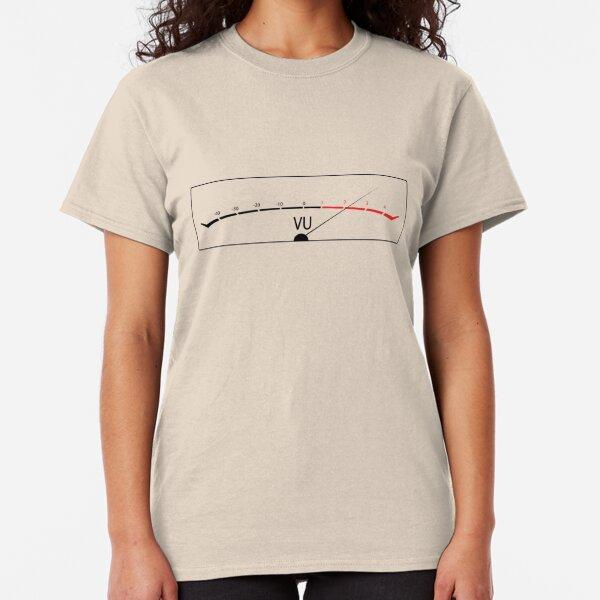 Shirt for Women Design Vu Meter T-Shirt Dj Music House Techno Helmet