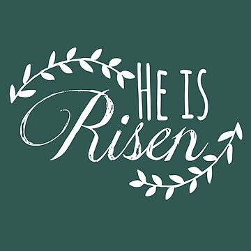 Christian Easter Tshirt, He Is Risen, Jesus Shirt, Easter Stationary by travelingpoppy