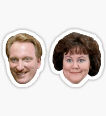 Ferris Bueller's Day Off - Rooney and Grace Head Stickers Sticker