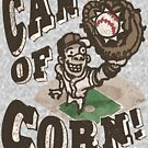 Can of Corn Retro Baseball Player by MudgeStudios