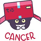 Funny Cancer Cat Horoscope Tshirt - Astrology and Zodiac Gift Ideas! by Banshee-Apps