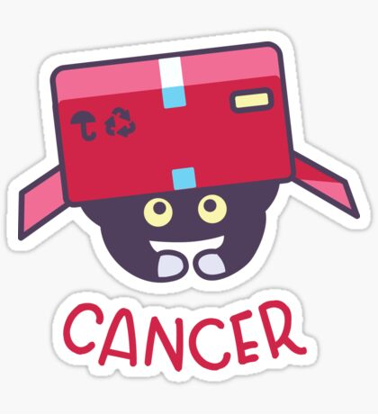 Funny Cancer Cat Horoscope Tshirt - Astrology and Zodiac Gift Ideas! Sticker