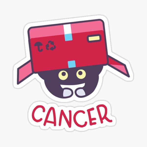 Funny Cancer Cat Horoscope Tshirt - Astrology and Zodiac Gift Ideas! Sticker