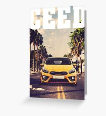 Ceed GT & quot; Palm Beach & quot; Greeting Card