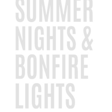 Summer Nights & Bonfire Lights T-Shirt by clairesdesign