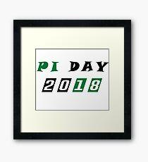Pi Day 2018 - Funny T-Shirt - Pi Day Shirt - Pi Day Gifts - Math Teacher Gift - Math T Shirt - Math Professor Gift- Math Student Framed Print