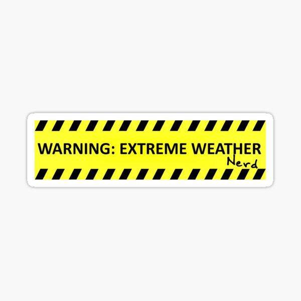 Extreme Weather Nerd Sticker