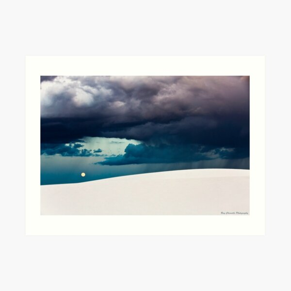 Stormy Evening at White Sands National Monument Art Print