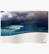 Stormy Evening at White Sands National Monument Poster