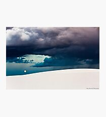 Stormy Evening at White Sands National Monument Photographic Print