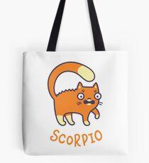 Funny Scorpio Cat Horoscope Tshirt - Astrology and Zodiac Gift Ideas! Tote Bag