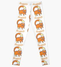 Funny Scorpio Cat Horoscope Tshirt - Astrology and Zodiac Gift Ideas! Leggings