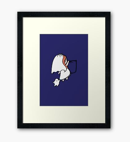 Pocket Donna Framed Print
