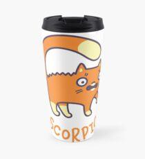 Funny Scorpio Cat Horoscope Tshirt - Astrology and Zodiac Gift Ideas! Travel Mug