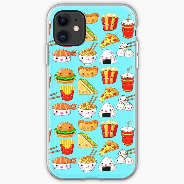 Kawaii Foods Pattern iPhone Soft Case