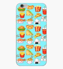 Vinilo o funda para iPhone Patrón de Kawaii Foods