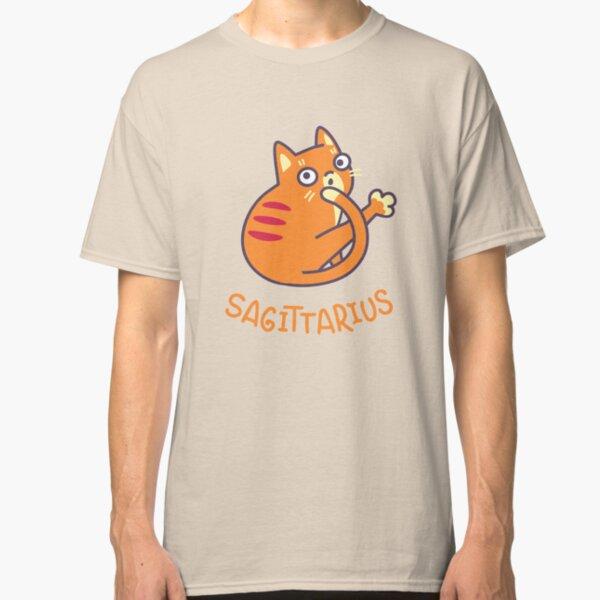 Funny Sagittarius Cat Horoscope Tshirt - Astrology and Zodiac Gift Ideas! Classic T-Shirt