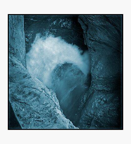 Trümmelbachfälle: cyan 3 Photographic Print
