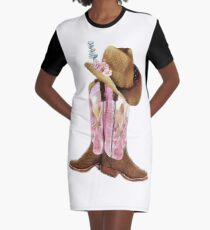 Cowgirl boots Graphic T-Shirt Dress