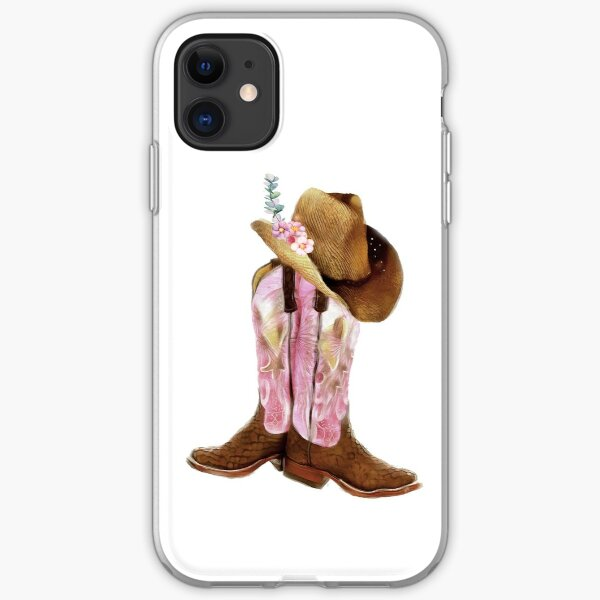 Cowgirl boots iPhone Soft Case