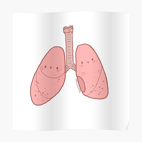 Cute Lungs Poster