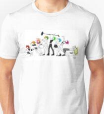 Hayley Williams Rainbow Hair Evolution Unisex T-Shirt
