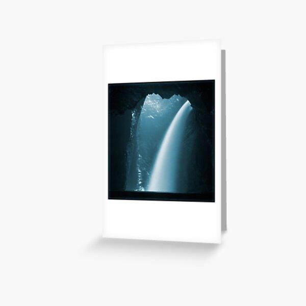 Trümmelbachfälle: cyan 2 Greeting Card