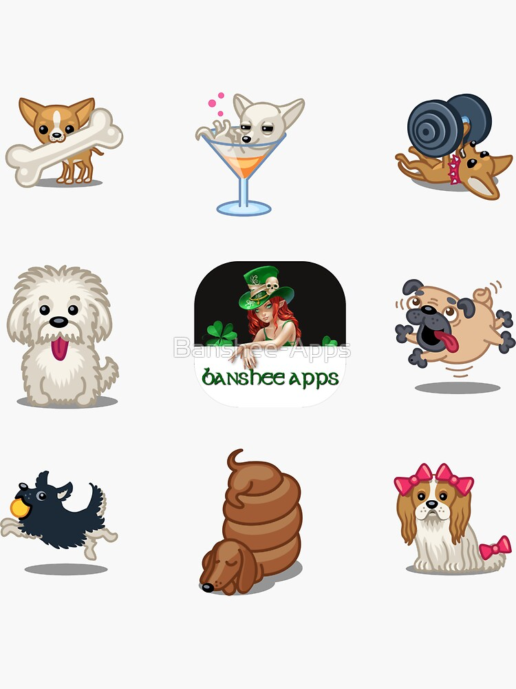 Funny Dog Sticker Pack Collection Part 2 by Banshee-Apps