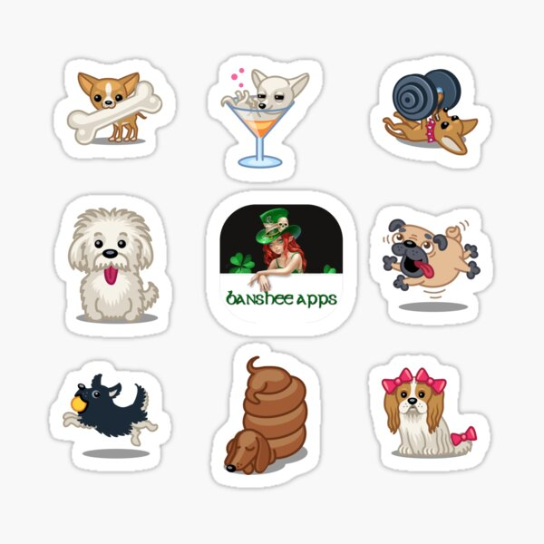 Funny Dog Sticker Pack Collection Part 2 Sticker