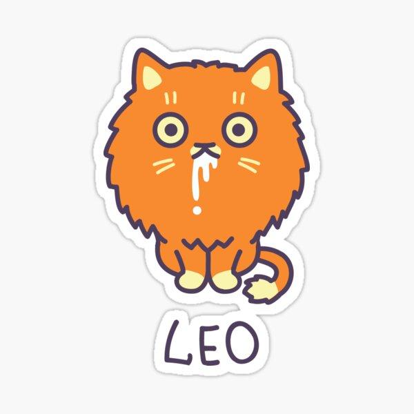 Funny Leo Cat Horoscope Tshirt - Astrology and Zodiac Gift Ideas! Sticker