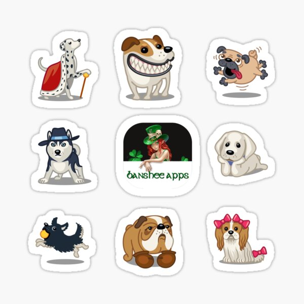 Funny Dog Sticker Pack Collection Part 1 Sticker