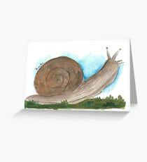 Brown Snail Greeting Card