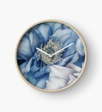 Peonia / dettagli in blu Clock