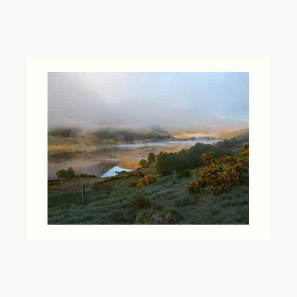 dawn mist rising  Art Print