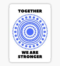 Together We Are Stronger - Dark Blue - Dissociative Identity Disorder Merch Sticker