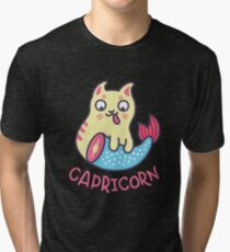 Funny Capricorn Horoscope Tshirt - Astrology and Zodiac Gift Ideas! Tri-blend T-Shirt