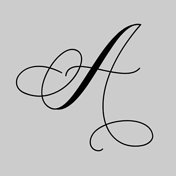 Calligraphy Capital Letter A by AKandCo