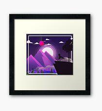 DnD Hero | Purple Scenic Mountain Landscape Framed Print