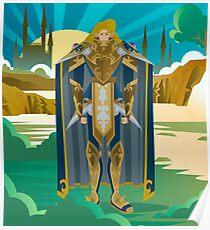elf knight warrior standing Poster