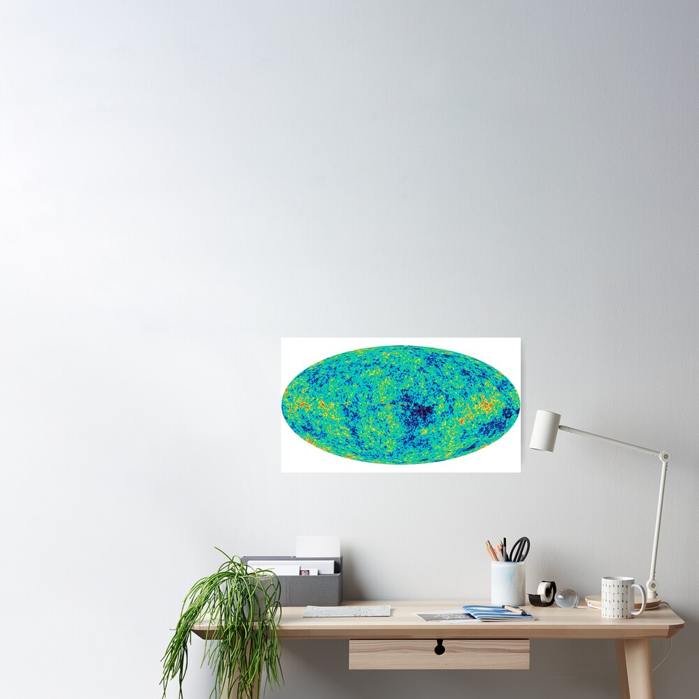 "Cosmic microwave background. First detailed ""baby picture"" of the universe. #Cosmic, #microwave, #background, #First, #detailed, #baby, #picture, #universe Poster"
