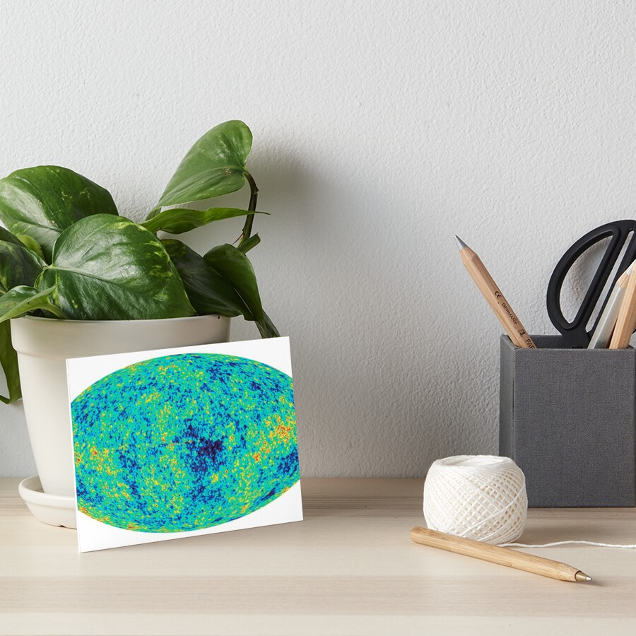 """Cosmic microwave background. First detailed """"baby picture"""" of the universe. #Cosmic, #microwave, #background, #First, #detailed, #baby, #picture, #universe Art Board Print"""